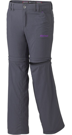 Marmot Girl's Lobo's Convertible Pant Dark Steel (1132)